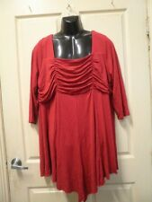 """AUTOGRAPH RUBY RED """"FLIRTY"""" TUNIC TOP SZ 22-NEW AUTOGRAPH--VERY DRESSY TO WEAR!!"""
