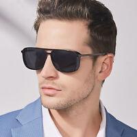 Men's Polarized Steampunk Sunglasses Retro Vintage Square Driving Glasses UV400