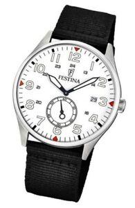 New FESTINA Men's Retro Classic Watch Black Steel F6859/2
