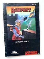 Rampart SNES Super Nintendo Instruction Manual Only Booklet Book
