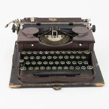 Vintage 1930's Royal Model P Typewriter Working Dark Red Faux-Wood Green Keys