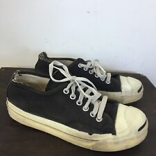 Vtg JACK PURCELL Shoes MADE IN USA SIZE 4.5 MENS BLACK Canvas