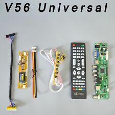 V56 Universal LCD TV HDMI  VGA PC USB AV Controller Driver Interface Board 7 Key