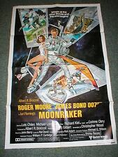 1979 James Bond 007~Orig Style B 1 Sh Movie Poster~MOONRAKER~Near MINT~Scarce!