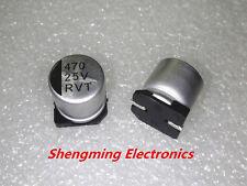 50pcs 470uF 25V SMD 10x10 chip Aluminum Electrolytic Capacitor 10*10mm