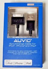 Auvio 3.8' Sync/Charge Cable For iPod, iPhone, and iPad - Black 1201348