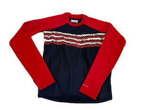 COLUMBIA Omni Shade USA Sandy Shores L/S Patriotic Shirt Youth L Sunguard NWT