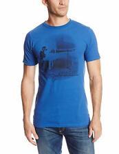 Zion Rootswear Men's John Lennon Imagine T-Shirt, Blue, XL