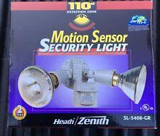 NEW Heath / Zenith 110 Degrees Motion Security Light, flood gray SL-5408-GR