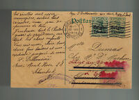1916 WW 1 Germany Occupied Belgium Postcard Cover to Switzerland