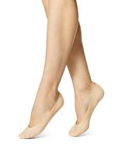 HUE 158016 Women's Natural Perfect Edge Liners Low-Cut No-Show Socks One Size