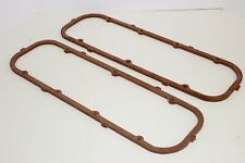 """Bb Chevy .330"""" Extra Thick Cork Steel Core Valve Cover Gaskets 396 427 454 Bbc"""