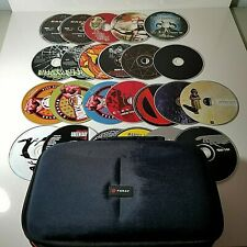 Binder Lot of 19 CD's (15) & DVD Movies (4) See Listing for Titles