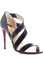 Christian Louboutin World Copine Asymmetrical Sandal Sz 38 Black