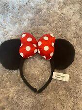 Original Disney Parks Minnie Mouse Ears Headband Red Polka Dot Spots