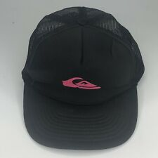Quicksilver Black Trucker Hat Cap Snapback Surfing Skater Hat c42