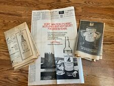 VINTAGE Burnetts Gin Famous Grouse Whyte Mackay Scotch Whisky print ads 1979 80