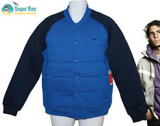NEW NIKE AD Athletic Dept Mens Varsity Jacket Blue M