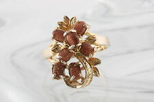 GOLDTONE COPPER DRUZY CLUSTER STONES RING SIZE 8 1/2 FASHION 0784