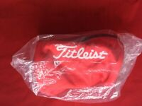 NEW TITLEIST Golf Ball Pouch Bag Carry Case PCH9 RED Japan F/S