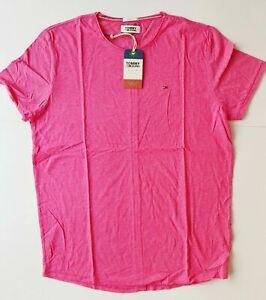 Tommy Hilfiger Jeans Men's T-Shirt Size 2XL , Slim Fit, Pink, Crew Neck