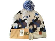 Boys Knitted Cotton Bobble, Beanie Hat In Grey + Other Colours 52cm Bnwts 7514