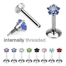 8 lot STAR Gem LABRET Monroe LIP CHIN EAR Rings Cartilage Helix Piercing Jewelry