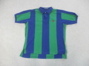 VINTAGE Ralph Lauren Polo Shirt Adult Extra Large Green Blue Golf Golfer Mens A3