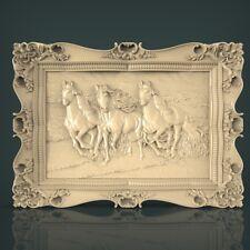 (1116) STL Model Horses for CNC Router 3D Printer Artcam Aspire Bas Relief