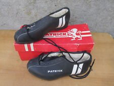 PATRICK CHAUSSURES CYCLISTE TAILLE 38 EN CUIR LEATHER BICYCLE SHOES NOS
