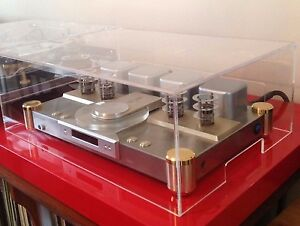 High Quality Turntable Dust Cover Clear Acrylic 520 W x 480 D x 70 H or smaller