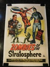 ZOMBIES OF THE STRATOSPHERE Original 1952 Movie Poster, C8.5 Very Fine/Near Mint