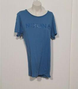 Nixon Mens Blue Basic TShirt Sz M