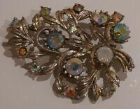 Vintage aurora borealis brooch