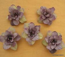 "5 Piece Lot 2.5"" Violet Beige Apple Blossoms Flower Hair Clips,Wedding,Prom"