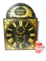 19thC Black & Gilt Enamel G.M. COLLINGWOOD MIDDLESBROUGH Long Case Clock Dial