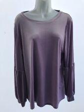 HALOGEN Lavendar Shirt Bell Sleeves Grommet Hem Womens XL NWT
