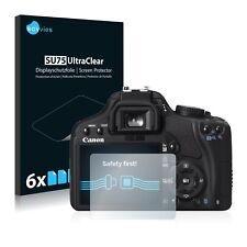 6x Savvies Screen Protector for Canon EOS 450D Ultra Clear
