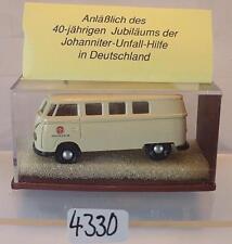 Brekina 1/87 Volkswagen Bulli VW T1a Bus 40 Jahre Johanniter Unfallh. OVP #4330