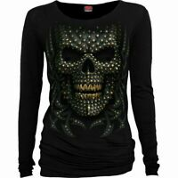 Spiral Direct BLACK GOLD Womens Long Sleeve Gothic/Metal/Skull/Rock/Top/Clothing