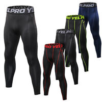 Men's Compression Athletic Tights Running Base Layers Long Pants Spandex Dri fit