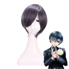 Black Butler Ciel Phantomhive Short Straight Bob Gray Mixed Black Cosplay Wig