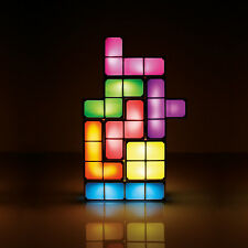 Official Tetris LED DIY 3D Desk Light Magic Puzzle Gadget Colourful Mood Lamp