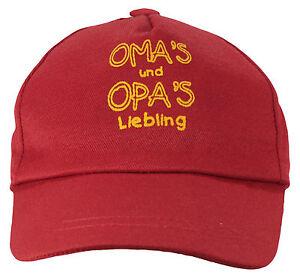 Kinder  Cap Mütze * Omas & Opas Liebling * ROT