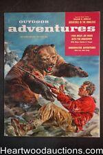 Outdoor Adventure Mar 1957 Tom Beecham Bear attack Cvr, Eve Meyer - High Grade-