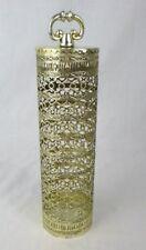 Vtg 60s Gold Filigree Ormolu Hair Spray Can Cover Vanity Hollywood Regency