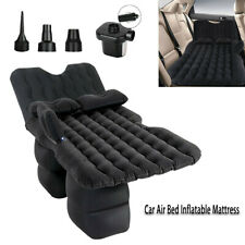 Inflatable Car Air Bed Mattress w/ Back Seat Pillow Cushion for Travel Sleeping