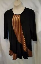 Curvesque Women's Black with Gold accents Dress
