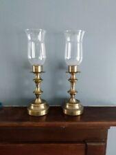 Vintage Brass hurricane candlesticks