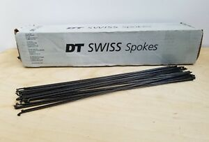 DT Swiss Aerolite 2.0//0.9//2.3 286mm Black Bicycle Wheel Spokes Sets of 8 New
